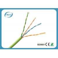 0.5mm Bare Copper UTP Cat5e Lan Cable For Indoor Use PVC Jacket Weatherproof