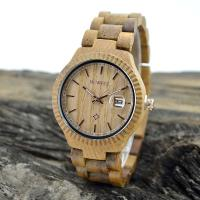 Cheap Natural Eco Friendly Classic Men Watches , Mens Waterproof Watches With Wooden Strap wholesale