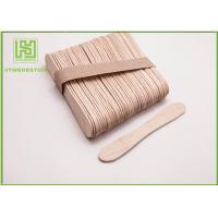 Cheap Disposable Lolly Pop Ice Cream Wooden Sticks , 114mm Natural Wooden Sticks wholesale