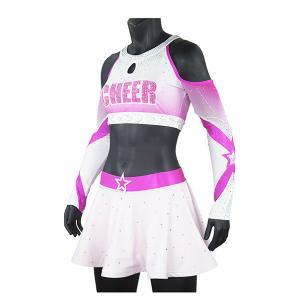 Cheap Premium Pink Sparkle Cheer Dance Clothes For Women Custom Cheerleading Uniforms wholesale