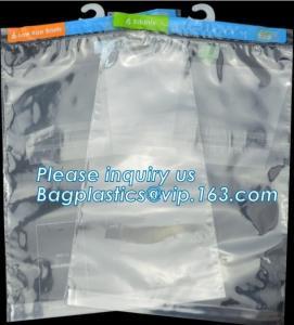 Cheap Hanger Plastic Hook Bag for Packaging on Festivals,Hanger PVC bed sheet packaging bag with buttons,Stationery Set Transp wholesale