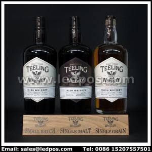 Cheap Ledpos Wooden Teeling Three Bottle Glorifier for sale