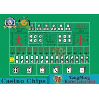 Cheap 100% Polyester Fabric Casino Table Layout ,  High - Density Waterproof Entertainment Tablecloth wholesale