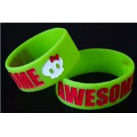 Cheap OEM Debossed Silicone Wristband, Colorful Silicone Sports Bracelets For Events wholesale