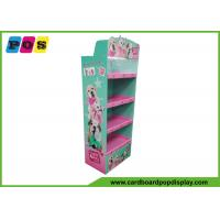 Offset Printing Pop Up Cardboard Display , Corrugated Display Stand For Plush Dolls FL173