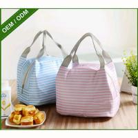 Cheap Square Canvas Soft Sided Lunch CoolerInsulated 18*15*14cm To Keep Cool / Warm wholesale