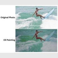 Realistic Custom Oil Painting Portraits Surf Lady Sports Oil Paintings From Picture