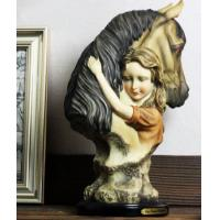 Cheap Little Girl and horse Ornaments Resin Craft wholesale