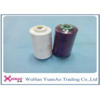 100% Spun Polyester Yarn 1.33D * 38mm Sewing Thread 40S/2 For Sewing