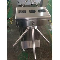 #400 brushed treatment SUS304 Waist High Semi Automatic electronic tripod turnstile gate