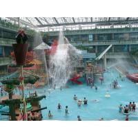 Water Playground Equipment With Fiberglass Spiral Water Slide and toys For water park