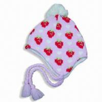 Cheap Acrylic Jacquard Hat with Fleece Lining wholesale