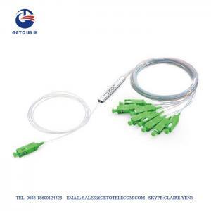 Cheap SC APC SM Mini Steel Tube Type 4 Way 1x4 Fiber Optic Splitter PLC wholesale