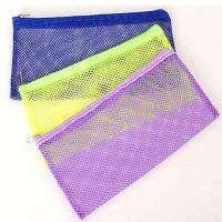 Cheap Transparent Clear Plastic Mesh Pencil Pouch 23*15cm One Pocket For Teenagers wholesale