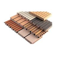 Buy cheap Decoration Fireproof Material Foam Diffuses Wooden Grooved Acoustic Panel from wholesalers
