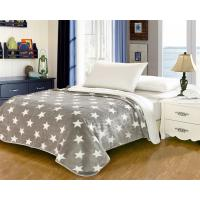 Elegant Home Textile Flannel Fleece Blanket Around 1cm Thickness With ISO9001 Certificated