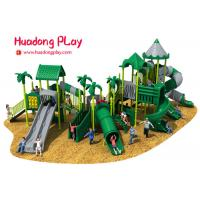 Cheap Commercial Funny Happy Outdoor Playground Slides , Big Outdoor Playground Toys wholesale