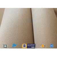 "Buy cheap Brown 31oz Silica Fabric 800℃ Working Temperature 0.05"" Thick Fireproof Curtain from wholesalers"