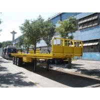 Buy cheap container flatbed semi-trailer with bulkhead for sale - CIMC VEHICLE from wholesalers