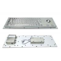Buy cheap 64keys Panel Mount Industrial Keyboard With Trackball used for Cabinet Kiosk from wholesalers