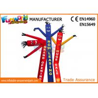 Cheap Nylon Inflatable Sky Dancer For Trade Show / Desktop Blow Up Advertising Man wholesale