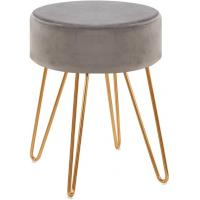 Cheap Elegant Lifestyle Velvet Footrest Stool Round Side Table 275 Pounds Simplicity wholesale