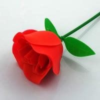 Cheap Customized FDA Aromatic Rubber Artificial Flowers Rose For Valentines Day wholesale