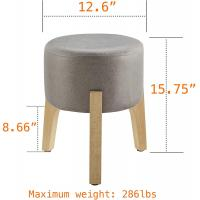 Cheap Mid Century Modern Ottoman Stool Modern Vintage Low Short Upholstered Makeup Vanity wholesale