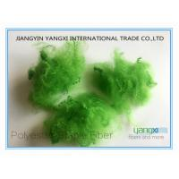Cheap Verde Pino Spun Dyed PSF Polyester Staple Fiber 1.5 Denier For Spinning wholesale