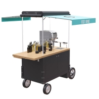 China Solid Wood Table 220V 4500W 300KG Beverage Vending Cart on sale