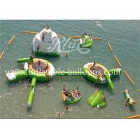 China Amazing Inflatable Water Parks Green White Inflatable Aqua Park Water Toys on sale