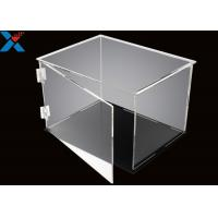 Cheap Rectangle Acrylic Display Box Open Door Assembled Clear Dust Storage Box wholesale