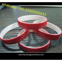 Cheap Hot Sale Double Sided Custom Cheap Silicon Bracelet,Custom Dual Silicon wristband For Gift wholesale