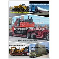 Engineering and construction machines transport low loader trailer 80 ton lowboy trailer for sale