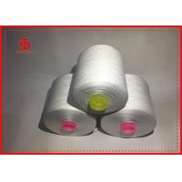 Anti - Bacteria Raw White Spun Polyester Yarn For Knitting And Weaving 50s / 2