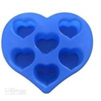 Cheap Silicon Kitchen Ware, Heart Shaped Silicone Mould For Cake / Chocolate / Candle / Soap wholesale