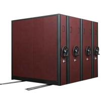 Cheap Maroon Library / Museum Compact Mobile Shelving H2300 * W900 * D560mm Size wholesale