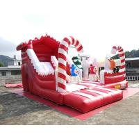 Cheap Winter Theme Inflatable Bounce House Slide Snowman Combo Jumpers ROHS EN71 wholesale