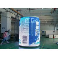 Cheap Staduim Stage / Railway Stations Cylinder Curved LED Display with 7.8mm Pixel Pitch wholesale