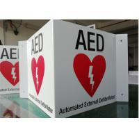 """Cheap 3 WAY AED ID Custom Printed Aluminum Signs 14""""X6""""X0.04"""" Wall Mounted Durable wholesale"""