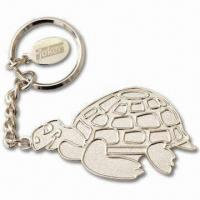 Buy cheap Silver Balder Keychains with Small Tag with Laser-Engraved Logo, Made of Iron from wholesalers