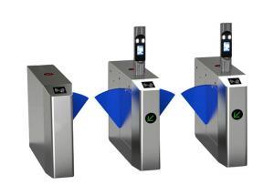 Cheap Face Recognition 100W Retractable Flap Barrier Turnstile wholesale