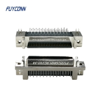 Cheap 90 Degree PCB Right Angle SCSI 50pin Female Connector W/ Zinc Alloy Shell wholesale