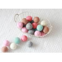 Cheap Environmental Friendly Wool Felt Balls Perfect For Garland / Necklaces / Earrings wholesale