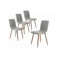Buy cheap Back Brown Metal Legs Modern Chairs With Fabric Cushion Seat from wholesalers
