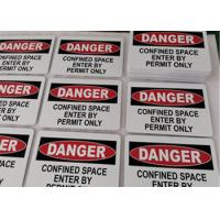 """Cheap Danger Confined Space Safety Aluminum Metal Signs 10""""X7"""" For Industrial Notices wholesale"""