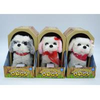 China Electronic Children's Moving Puppy Toy , Toy Walking Dogs That Bark And Walk on sale