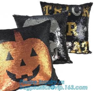 Cheap Cushion Reusable Eco Bags Decorative Sequin Pillow Mermaid Reversible Sequin Pillow Cover wholesale