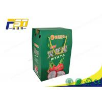 China Printing Folding Colored Corrugated Boxes Custom Logo For Fruit Package Carton on sale