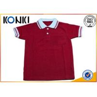 Different Colors Soft Short Sleeve Cotton Shirt For Boys Uniform